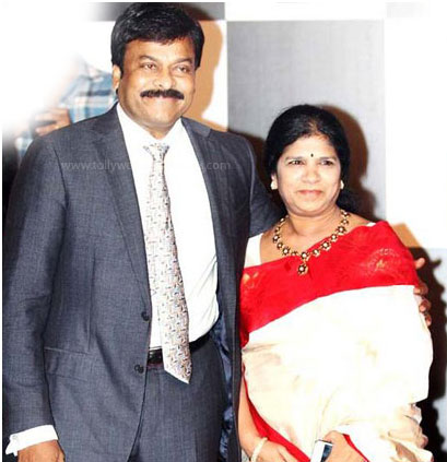 Chiranjeevi and his wife: