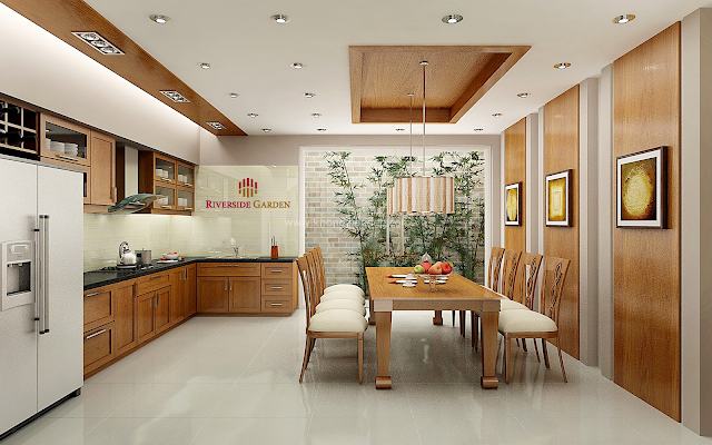 Phòng ăn dự án Riverside Garden