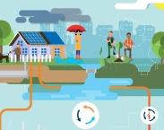 Uitsnede illustratie cover Naar een duurzaam Nederland : energieneutraal, klimaatbestendig en circulair