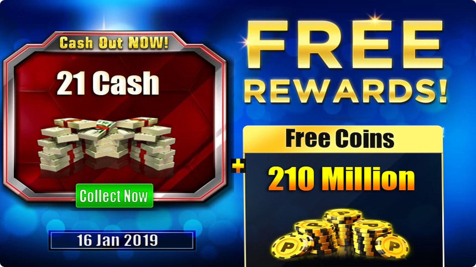 8 Ball Pool 210 Million Coins + 21 Cash Giveaway