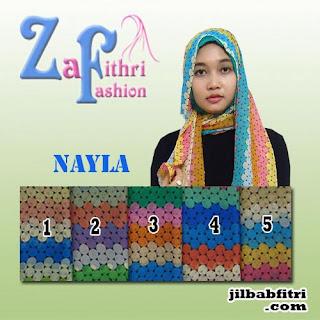 jilbab pashmina motif bahan sifon