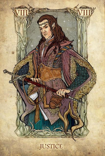 Senhor dos anéis em cartas de tarô - Justiça