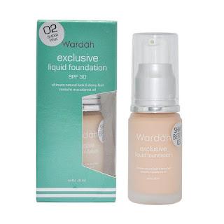 WARDAH liquid Foundation yang sudah mengandung SPF 30. harga 60-65k