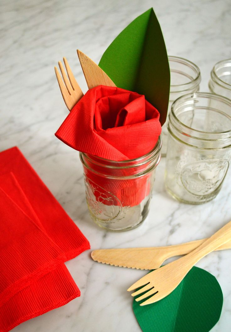 Festive Flower Napkin Rings Mother's Day Crafts
