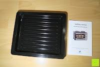 Blech: Andrew James – 23 Liter Mini Ofen und Grill mit 2 Kochplatten in Schwarz – 2900 Watt – 2 Jahre Garantie