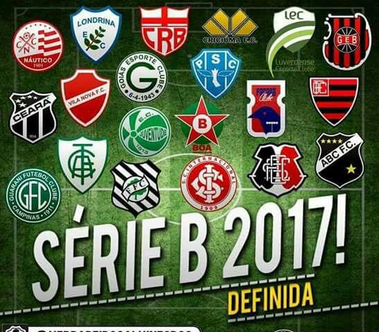 d71e5d56aa15d Foi conhecido neste domingo o último participante do Campeonato Brasileiro  da Série B de 2017.