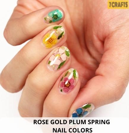 Rose Gold Spring nail