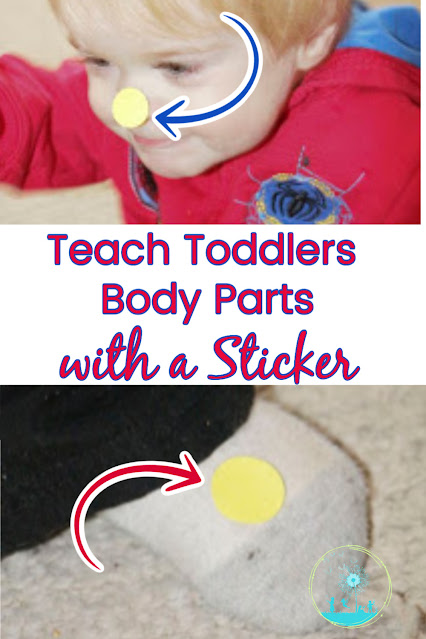 Teach Toddlers Parts of the Body with a Sticker