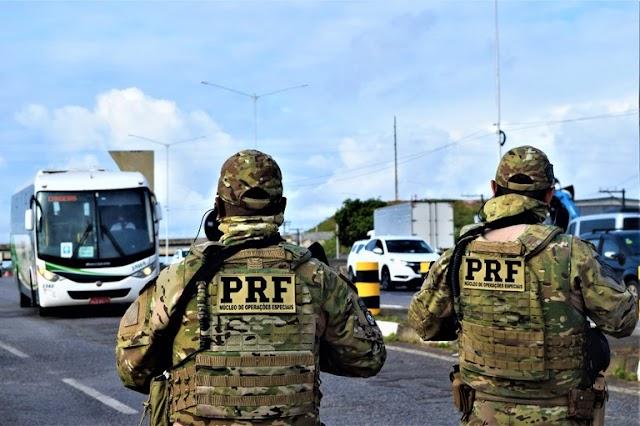 PRF BA intensifica fiscalização de combate a assalto a ônibus na Região Metropolitana de Salvador