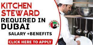Kitchen Stewards and Cleaner Job in Dubai Hotel
