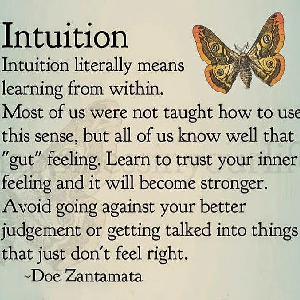 Words of wisdom {intution}