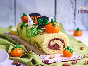 Gâteau roulé d'Halloween - Recette facile et rapide