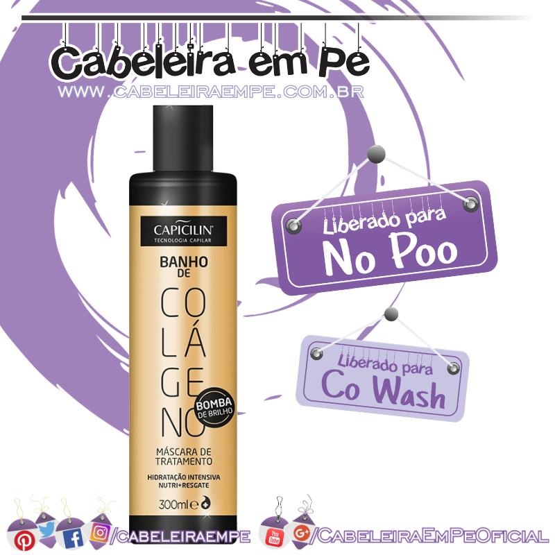 Banho de Colágeno - Capicilin (No Poo e co wash)