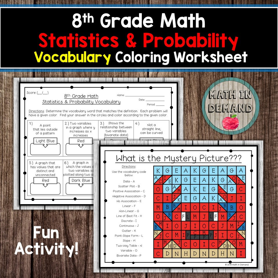 8th Grade Math Vocabulary Coloring Worksheets [ 960 x 960 Pixel ]