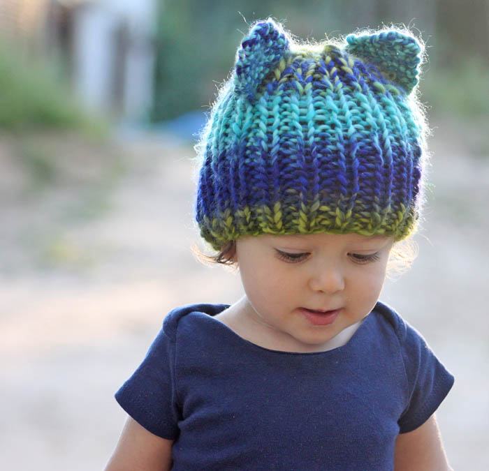 Toddler Bear Hat [knitting pattern] - Gina Michele