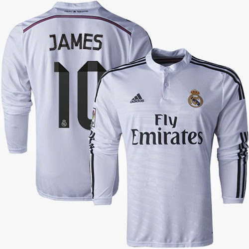 sports shoes c7a8c 2cdbc Real Madrid #10 James Rodriguez Replica White Home Long ...