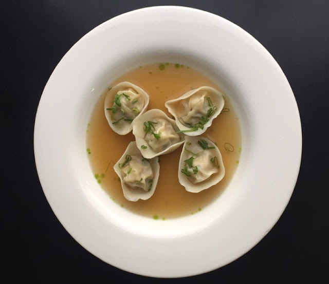 Chicken Tortellini in Broth