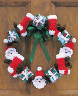 http://www.yarnspirations.com/patterns/merry-christmas-wreath.html
