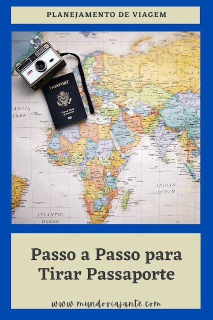 cartaz escrito como tirar passaporte