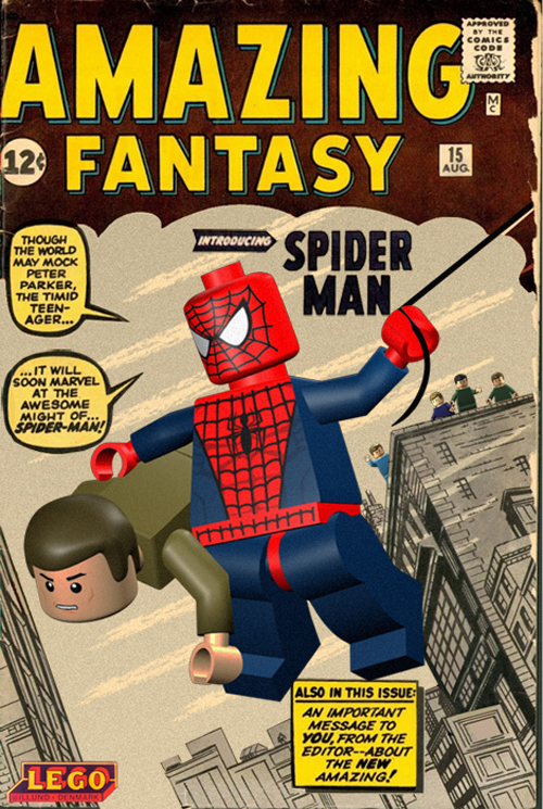 The Dork Review Rob S Room Marvel Comics Covers Lego Ized