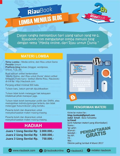 "Update Info lomba Blog ""Media Online, Riau untuk Dunia"""