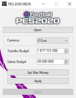PES 2020 Master League Money Editor اداه تزويد الفلوس في الماسترليج