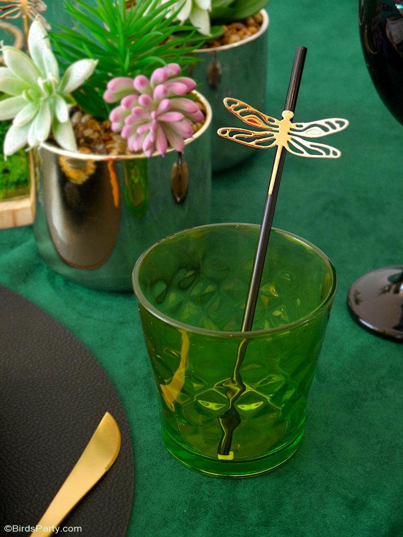 Décor de Table Botanique avec 5 Projets DIY - des idées simples pour une jolie table inspirée de l'entomologie pour toute fête ou célébration automnale! by BirdsParty.com @birdsparty et Sizzix #decordetable #artdelatable #tableautomnale #mariageautomne #automne #dineraperatoire #aperoautomne