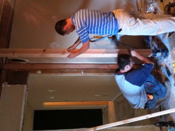 Kitchen Remodel Dallas Storage Racks Houston Remodeling 休斯顿张先生家厨房改造 理石台面的安装 地砖 地板工程