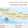 Gempa 5,6 SR Guncang Sukabumi, Getaran Sampai Pangandaran