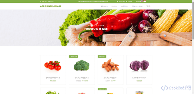 Aplikasi Penjualan Produk Pertanian Berbasis Web (Codeigniter)