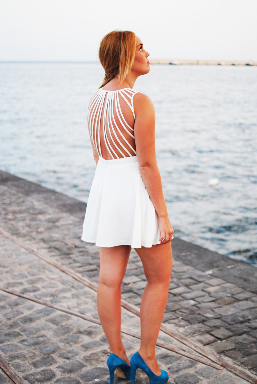 xenia, backless, dress, white, snb, nery hdez