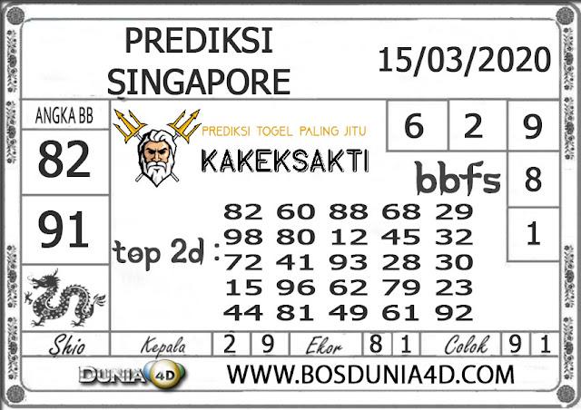 Prediksi Togel SINGAPORE DUNIA4D 15 MARET 2020