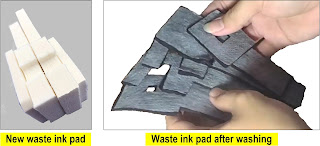 How to clean the waste ink absorber