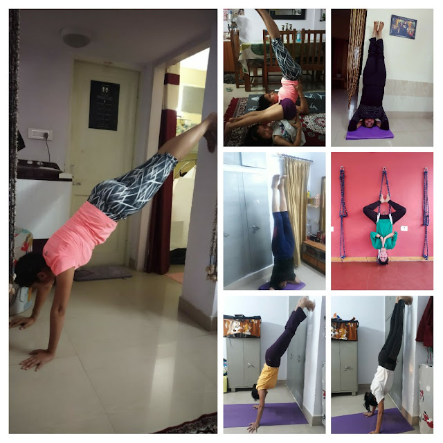 Anita Kolhatkar doing different Yoga postures