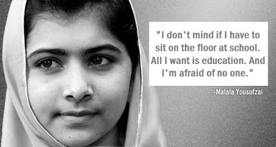 Malala Yousufzai: Ï don't mind if I have to sit on the floor at school, all I want is education. And I am afraid of no one