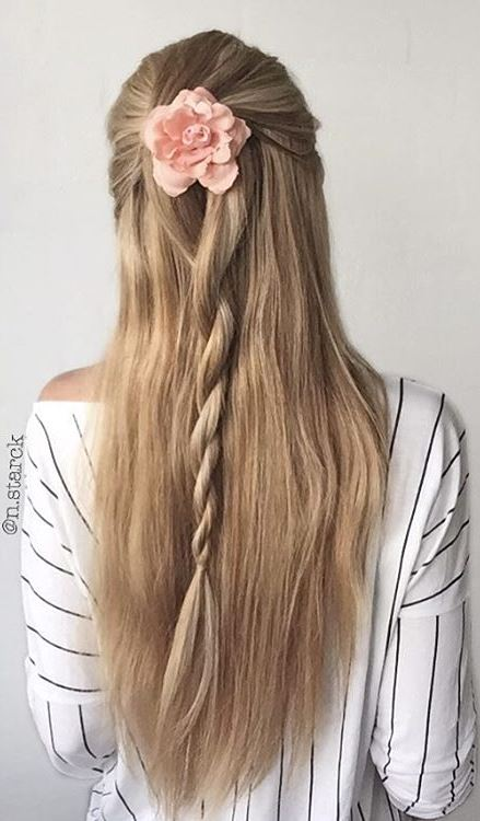 Simple half up Robe Braid