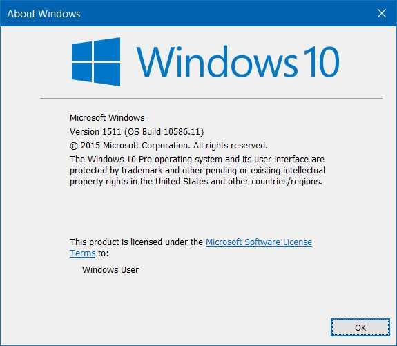 Versi windows 10