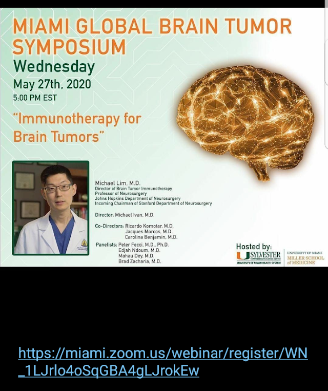 Miami Global Brain Tumor Symposium Wednesday ,27th 2020