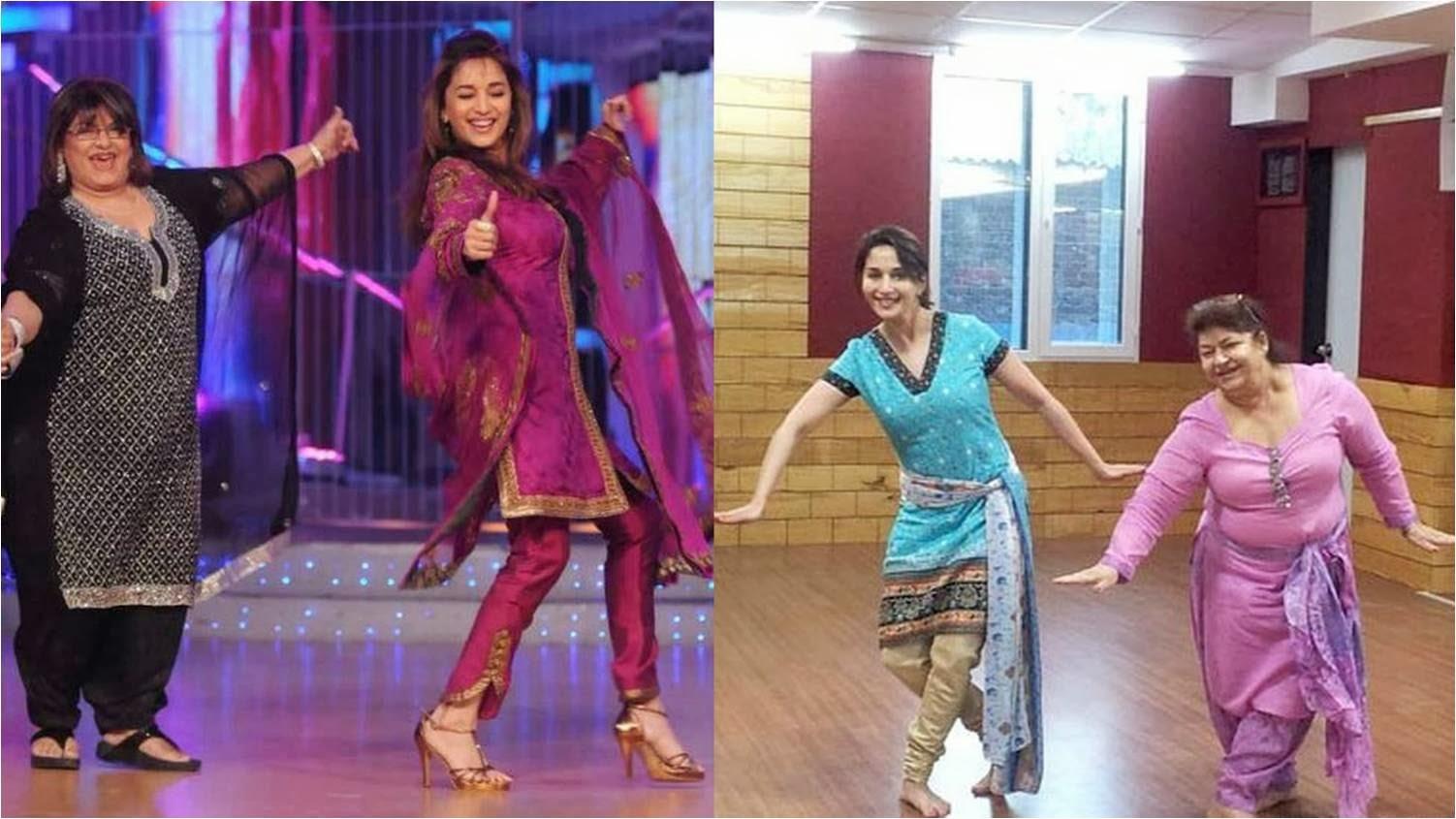 Madhuri Dixit and her Choreographer Guru Saroj Khan on dance practice and stage