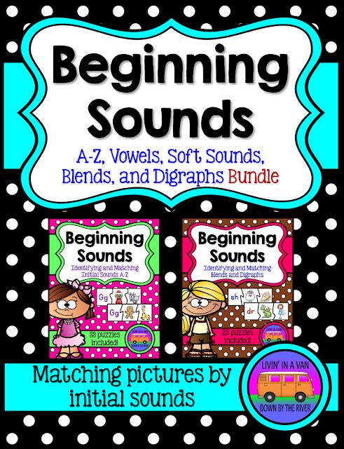 BEGINNING SOUNDS, LITERACY CENTERS, PHONICS, TPT