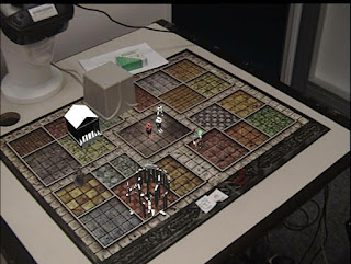 Figure 15: Games using a virtual table and synthetic objects.