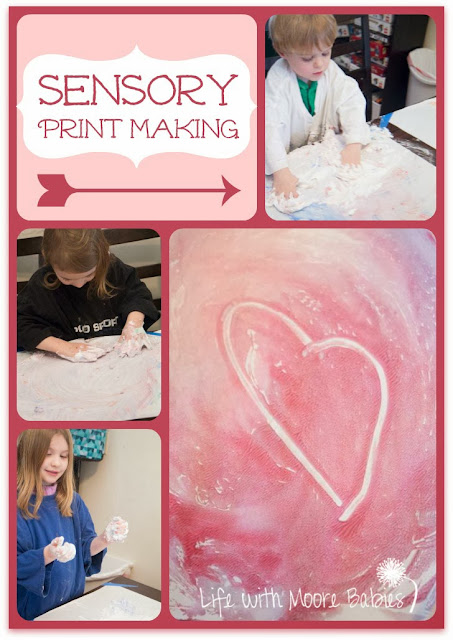 Shaving Cream Combines Process Art and Sensory Fun