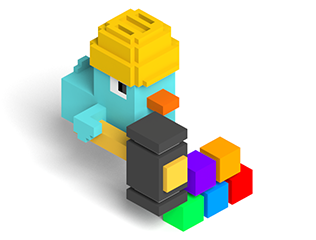 In 3D computer graphics, a voxel is a value on a grid in three-dimensional space.