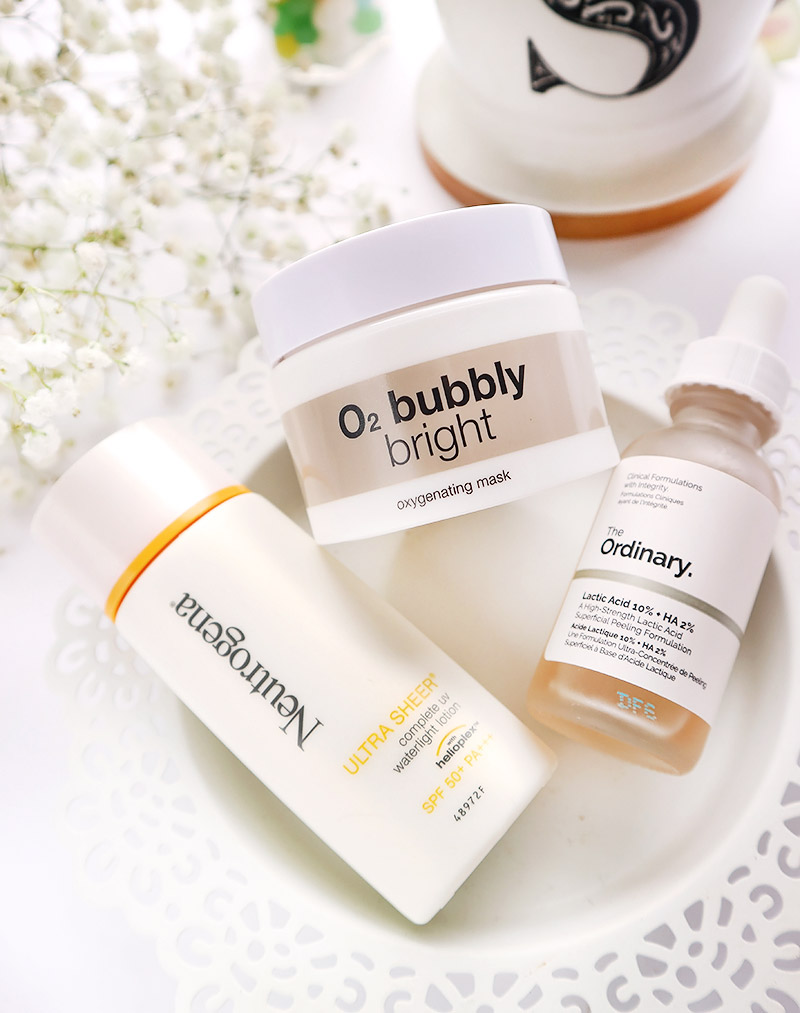 Neutrogena Ultra Sheer Complete UV Ultra Light Lotion and B.Liv O2 Bubbly Bright Mask Review