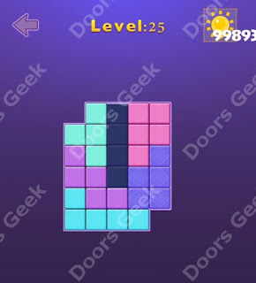 Cheats, Solutions, Walkthrough for Move Blocks Easy Level 25