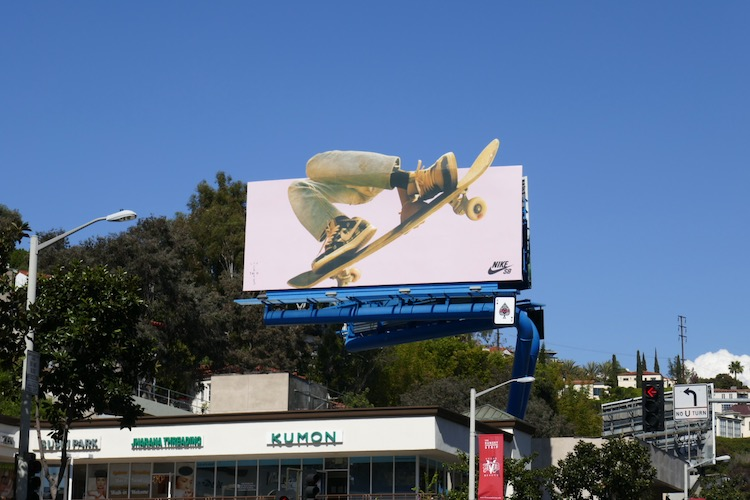 Nike SB sneakers billboard