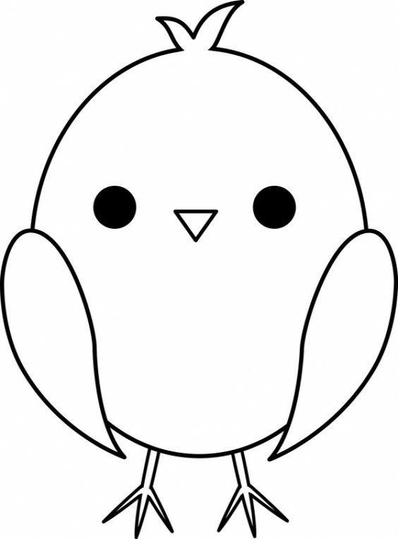 Tranh tô màu con chim cute