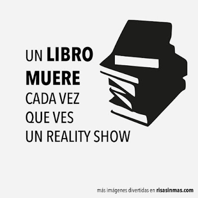 Meme de humor sobre libros y Reality Shows