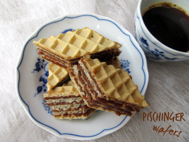 Pischinger wafers by Laka kuharica: wafers with delicate hazelnut - chocolate cream melt on your tongue and taste like heaven.