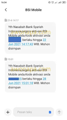 Kode Aktivasi SMS
